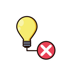light bulb off isolated icon vector image