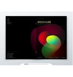 liquid brochure cover template for brochure vector image
