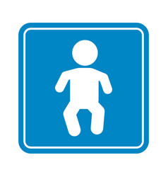little baby simple sign detailed blue child icon vector image