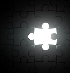 Missing piece puzzle vector