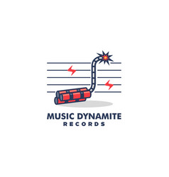 music dynamite design concept template vector image