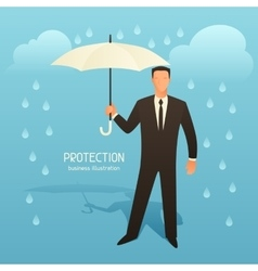 Protection business conceptual with vector