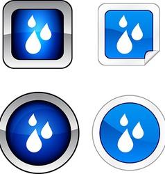 Rain button set vector image