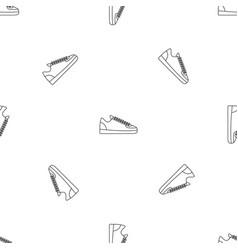 Rap sneakers pattern seamless vector