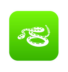 rattlesnake icon green vector image
