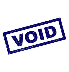 rectangle scratched void stamp vector image