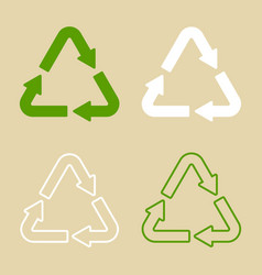 recycle symbol set isolated vector image