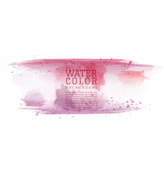 Red purple abstract watercolor brush background vector