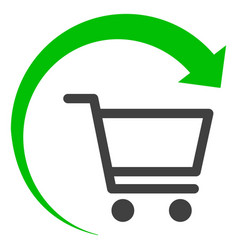 Repeat purchase order flat icon symbol vector