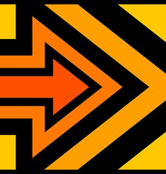 Right Arrow Background Orange vector