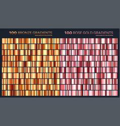 Rose goldgolden gradientpatterntemplateset of vector