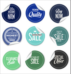 round sale stickers on white background vector image