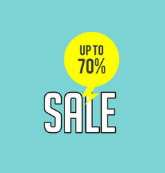 sale up to 70 blue background image vector image