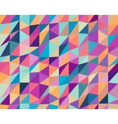Seamless Multicolor Triangle Low Poly vector image