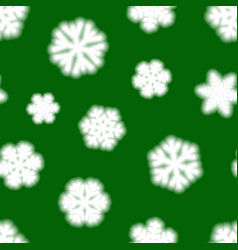 Seamless pattern big blurry snowflakes vector