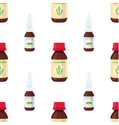 seamless pattern of nose spraycough remedy vector image