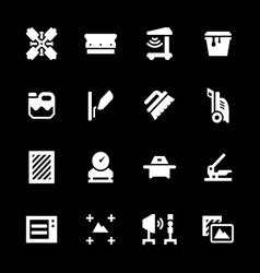 Set icons of screen printing vector image