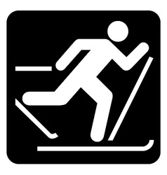Skiing Sign vector image
