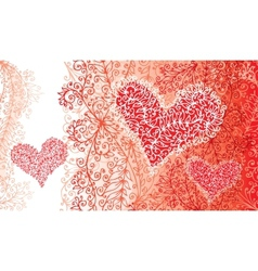 St Valentine Love Red Heart Card vector image