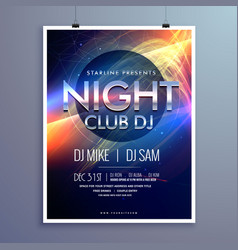 Stylish night club music party flyer template vector