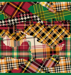 tartan plaid fabric patchwork collection vector image