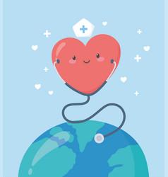 Thank you doctors and nurses nurse heart vector