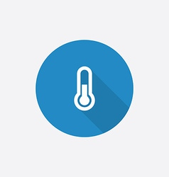 thermometer Flat Blue Simple Icon with long shadow vector image