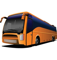 Tour bus company logo vector image