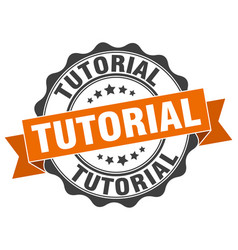 Tutorial stamp sign seal vector