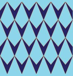 v-shaped rhombus or diamond seamless pattern vector image