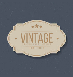 vintage labels and frame design elements vector image