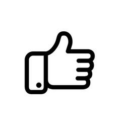 black thumbs icon vector image