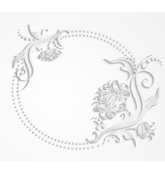 Card with frame of flowers vector image vector image
