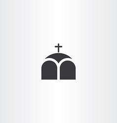 church or chapel cross icon vector image