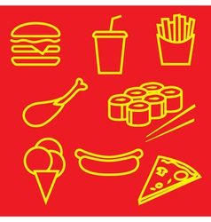 fastfoodset vector image