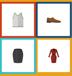 flat icon garment set of stylish apparel male vector image