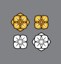 linethai artthai thailandart flower vector image