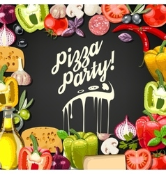 Pizza party vector image vector image
