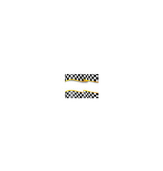 Race background Checkered black and white vector image vector image
