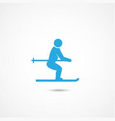 ski man icon vector image