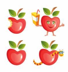apple icon set vector image