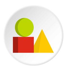 box of bricks icon circle vector image vector image