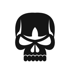 Human skull icon simple style vector image vector image