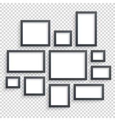 Picture frames Photo art gallery Dark vector image