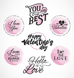 Valentines Day Typography Designs vector image