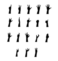 Arm jestures set vector image