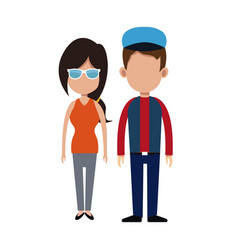couple people relationship together vector image vector image