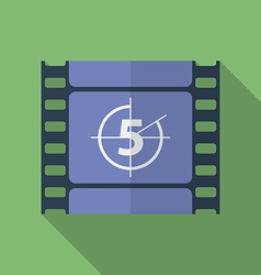 Icon of Film Frame Cinema Film Flat style vector image vector image