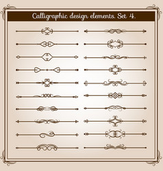 retro simple scroll page dividers vintage vector image vector image