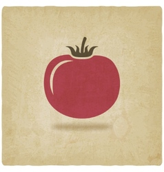 tomato symbol old background vector image vector image